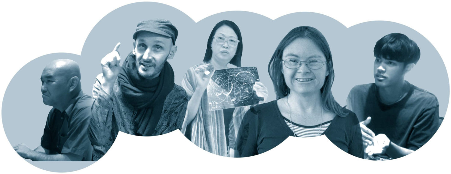 A montage of five people who have previously attended Sync Leadership programmes