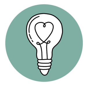 An image that depicts passion, it shows a drawing of a lightbulb with the heart shaped filament.